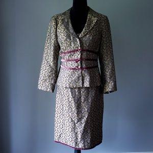 NANETTE LEPORE brocade 3pc suit